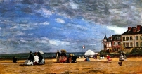 Eugène Boudin - Trouville 1864 (National Gallery Washington)