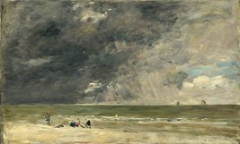 Eugene Boudin - Plage à Trouville 1890 (National Gallery London)