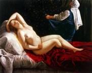 Artemisa Gentileschi - Danae (inspirée par Titien) 1612