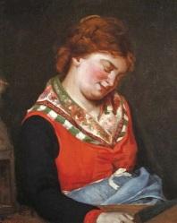 Gustave Courbet - Paysanne endormie 1853