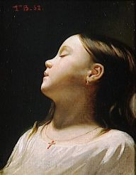 Léon Bonnat - Fillette endormie 1852
