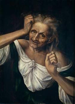 Quentin Metsys - Vieille femme se tirant les cheveux