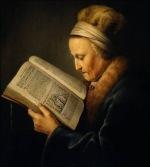 Rembrandt - Vieille femme lisant