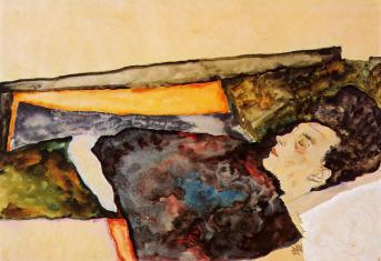 Egon Schiele -1911- Mère de l'artiste endormie
