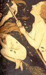 Anonyme - Sabbat de sorcières - gravure 1909