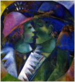 Chagall - 1914 - Les amants verts - collection privée