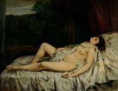 Courbet - Femme nue dormant