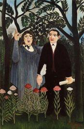 Douanier Rousseau - La muse inspirant le poète (Marie Laurencin & Appolinaire)