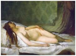 Eduardo Rosales Gallina 1865 - Mujer desnuda dormida - MNBA-BuenosAires