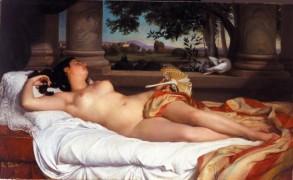 Félix Auguste Clément - La belle romaine endormie