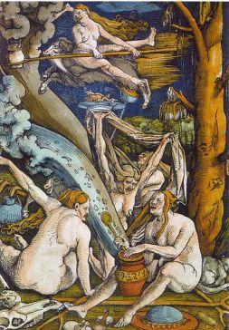 Hans Baldung - Sorcières - Gravure 1508