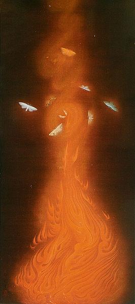 Hayami Gyoshu - Danse des flammes 1925