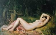 Théodore Chassériau - Nymphe endormie près d'une source