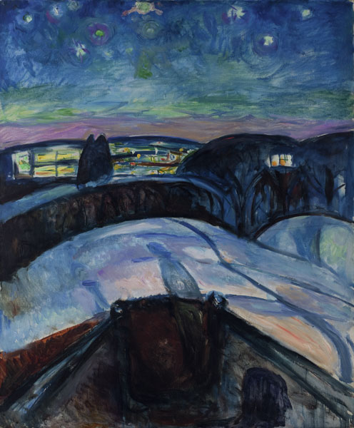 Edvard Munch -nuit étoilee-1922 - Musée Oslo