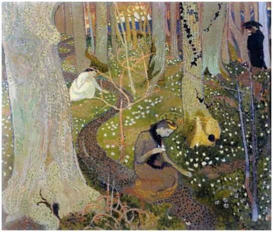 Maurice Denis 1891 (Avril les anémones) collection privée