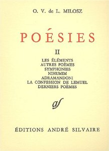 Milosz - Poésies tome 2 - Silvaire_
