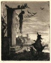 Albert Besnard - Le pendu 1873 - Eau-forte
