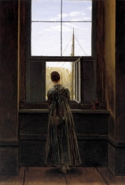 Caspar David Friedrich - Femme à la fenêtre -1822- Nationalgalery