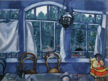 Chagall - Fenêtre sur jardin -1917- Musee Brodski -St-Petersbourg