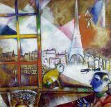 Chagall - Paris par la fenêtre -1913