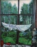 Chagall - Vue de la fenêtre à Zaolchie -1915