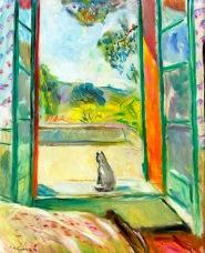 Charles Camoin – Le chat devant la fenêtre ouverte (Aix-en-Provence)