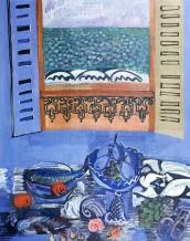 Raoul Dufy - Nature morte au poisson et aux fruits -1920-22-Huile-jpg