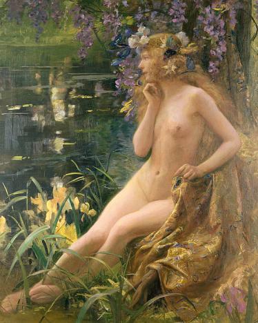 Gaston Bussière - Nymphe des eaux