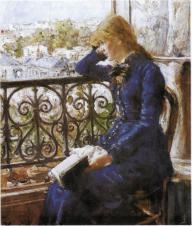 Hans Heyerdahl - Jeune fille lisant à la fenêtre