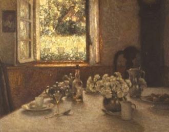 Henri Le Sidaner - Le dessert 1904 - Musée Martin Gray