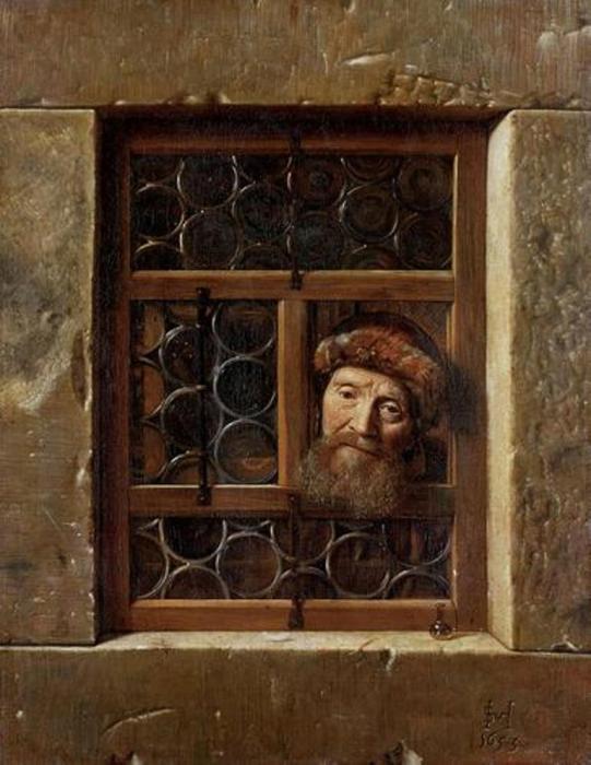 Hoogstraten - Vieil homme regardant par la fenêtre