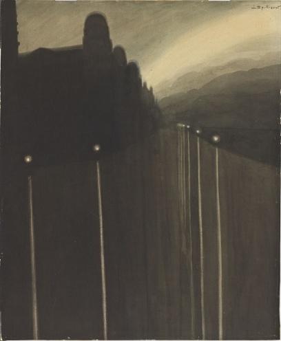 Léon Spilliaert (1881-1946) - Digue de nuit 1908