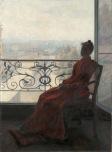 René Schützenberger - Liseuse à la fenêtre