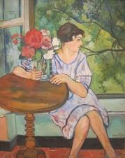 Suzanne Valadon - Jeune fille devant une fenêtre