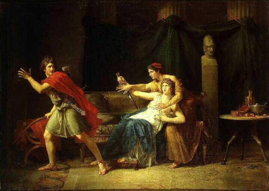 GARNIER Etienne Barthélemy (1759-1849) Phèdre après son aveu à Hippolyte
