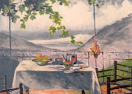 Mustapha Farroukh - Petit déjeuner libanais - 1946