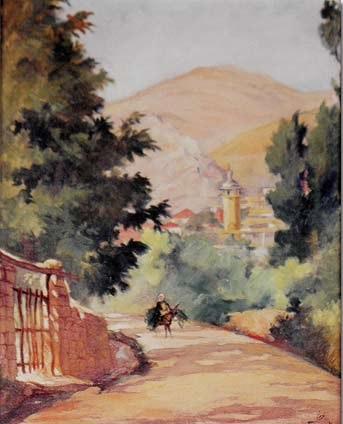 Mustapha Farroukh - Village de Kabb Elias 1934