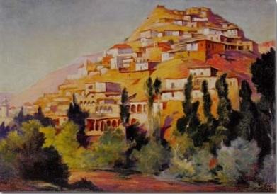 Mustapha Farroukh - Village de Kabb Elias 1936
