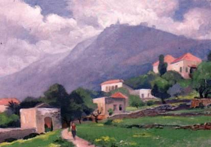 Mustapha Farroukh - Village de Zouk et Harissa - 1955