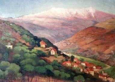 Mustapha Farroukh - Village sur le Mont Liban 1945
