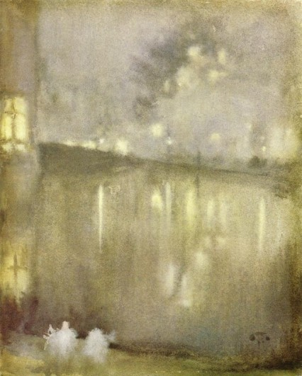 James Abbott Whistler - Nocturne en gris et or  Canal en Hollande