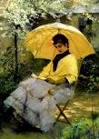 Albert Edelfelt - Femme et son ombrellel-1886