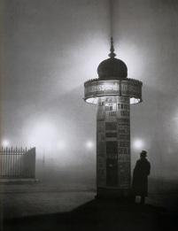 Brassaï ~ Colonne Morris - Paris, 1934