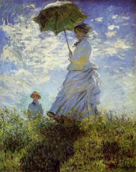 Claude Monet - La promenade la femme à l'ombrelle