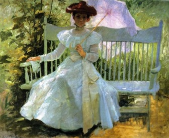 Frank Duveneck (1848-1919) american painter - That summer afternoon in my garden