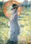Frederick Frieseke (1874-1939) Woman with a Parasol, c. 1906