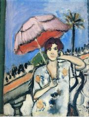 Henri-Matisse - femme à l'ombrelle