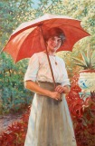 Jenny Nystrom-1854-1946 - The red parasol