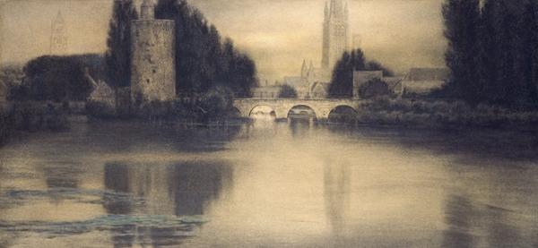 Fernand Khnopff  :  À Bruges. Aspect de Bruges, Le Lac d'Amour