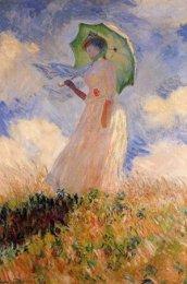 Monet - jeune fille à l'ombrelle tournée à gauche (Orsay)